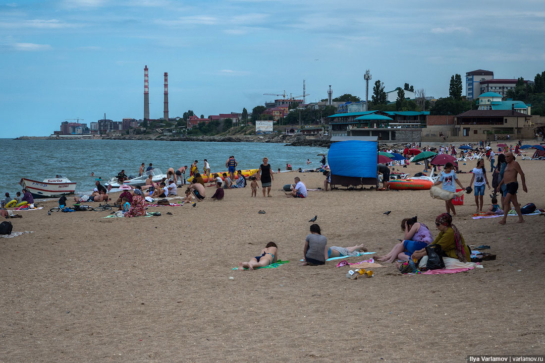 Пляжи махачкалы фото